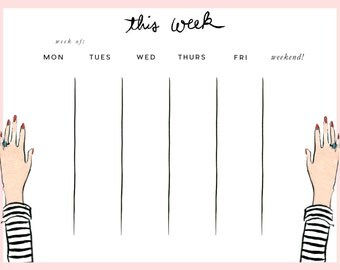 Week at a Glance Pad: Striped Tee