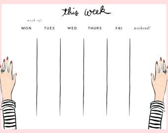 Striped Tee Weekly Pad
