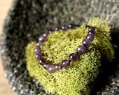 Amethyst - Adjustable Beaded Bracelet