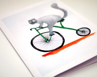 Printed cards Paper goods Bike print cards for him Carte anniversaire Blank greeting card for a friend Black and white Simple card