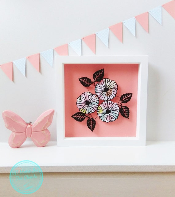 Paper Cutting Template, Personal and Commercial Use, Small Flower Bouquet, Printable PDF, DIY, Cut Your Own