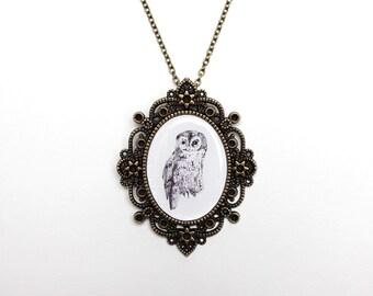 Owl necklace, Owl jewelry, Animal necklace, Animal jewelry, Woodland animals, Christmas gift, Christmas jewelry