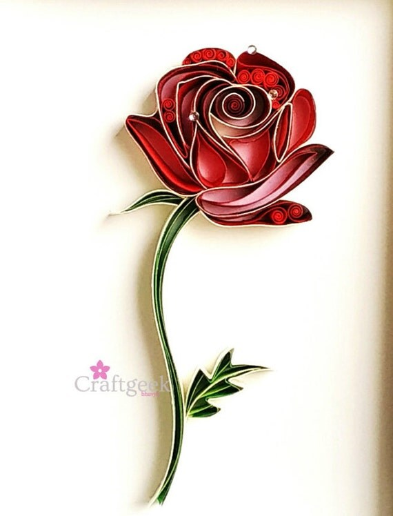 rose art valentine's day gift single red rose art, Ideas