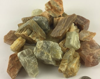 Raw Moonstone Crystals - Healing Crystals & Stones - Chakra Crystals - Rocks and Minerals - Raw Moonstone - Moonstone