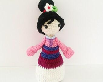 Crochet Mulan Inspired Doll