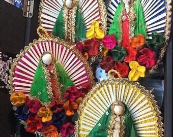 Hangable Virgen De Guadalupe Straw Frame