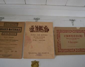 Vintage Sheet Music Books-Pianoforte-Piano Sheet Music-Mathews-Baschinsky-Spaulding-Lot of 3