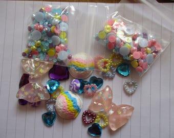 Rainbow  Decoden / embellishment bundle
