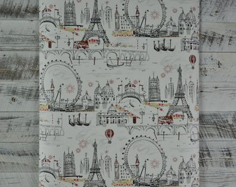 Black and White European City Scenes Wallpaper BL0436 - Sold by the Yard