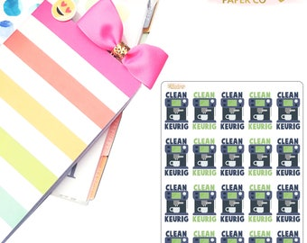 Clean Keurig Planner Stickers