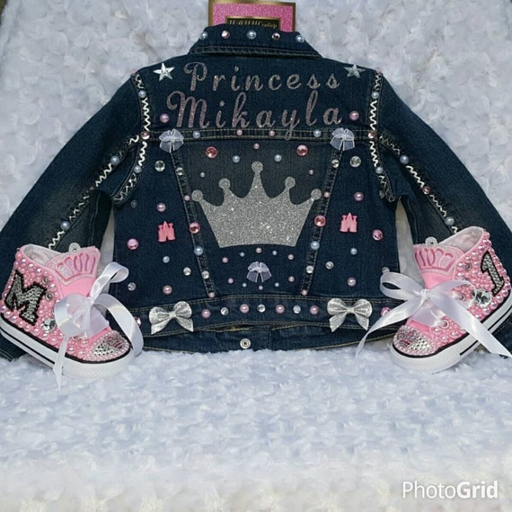 First Birthday Outfit Birthday Outfit Custom Jacket Custom