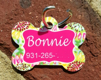 Personalized Dog Tags / Custom Made Pet Tag / Pet ID Tag / Dog or Cat ID Tag / one sided