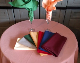 polyester tablecloth in ovals,rounds, squares, rectangles and super large 70 colors MAde in USA custom sizes available