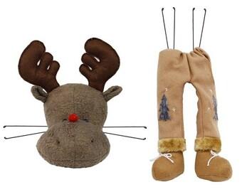 "2 Pc 21""H Brown Moose Wreath Decor Kit/Wreath Supplies/Wreath Kit/MD0206"