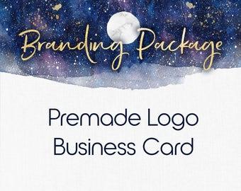 Logo and Business Card Package , Branding Package , Branding Kit , Bohemian Design , Watercolor Design , Mandala Design , Branding Set