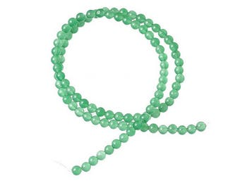 90 beads of Agate natural 4mm Green