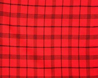 red fabric / red maasai blanket/maasai shuka/ African print fabric / ethnic maasai fabrics