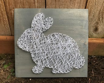 MADE TO ORDER- Bunny Rabbit String Art- Easter String Art- Spring Wall Art