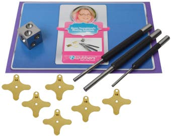 Wubbers® Riveting Set by Gwen Youngblood Rivet Jewelry Making Metal Wire Forming Punching Bezel Tool Kit - KIT-505.00