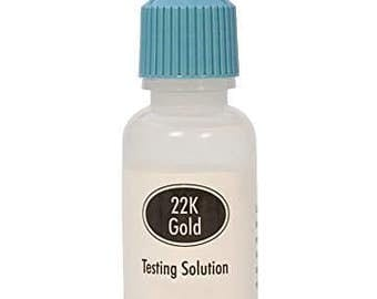 12 Grams 22K Gold Testing Solution Bottle Test Purity Jewelry Scrap Precious Metal Testing Acid - TEST-0007