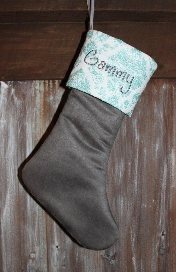Gray Christmas Stockings