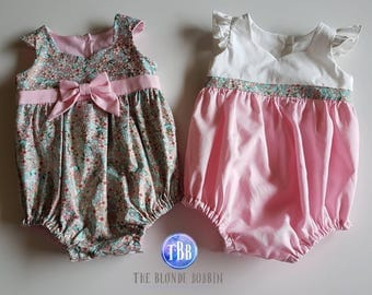 Two Size 000 Pink/Floral Playsuits - Twin Set