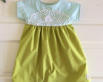 Boho baby dress- boho toddler dress- doily dress- summer dress- wedding dress toddler - special occasions - little girls dress