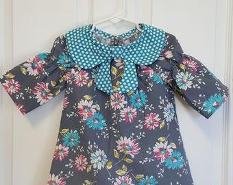 Girls Dress, Peasant dress, Toddler Dress, 3T, Floral Dress