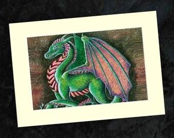 Dragon Mounted Print