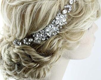 Bridal Hair Comb, Crystal Bridal Hair Piece, Wedding Hair Accessory, Bridal Hair Vine, Rhinestone Wedding Headpiece, Bridal Hair Jewelry
