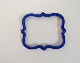 Signature Plaque Rectangle  Cookie Cutter|Fondant Cutter|Wedding Cookie Cutter|