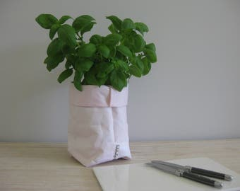 Washable Kraft Paper Storage Bag -Baby Pink SMALL