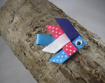 NEW fish ribbon art hair clip