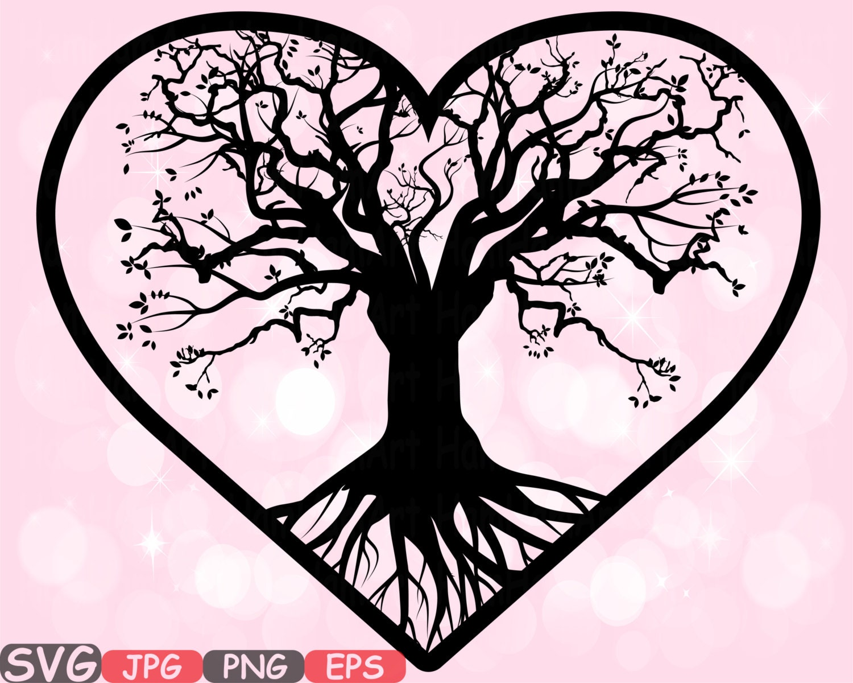 Family Tree Heart Frame SVG family Valentine's Day SVG