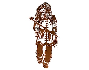 Native American Indian Chief! Laser cut wall art.