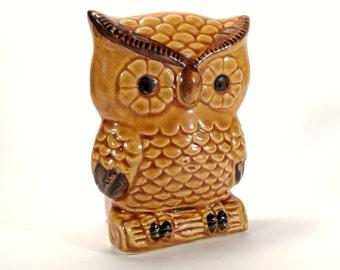 Owl Napkin or Letter Holder Ceramic 1960's