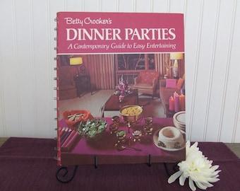 Betty Crocker's Dinner Parties, Vintage Cookbook, 1970