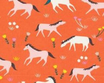 1 Yard  Stay Gold by Aneela Hoey for Cloud 9 Fabrics- 160715 Ponies Sunset