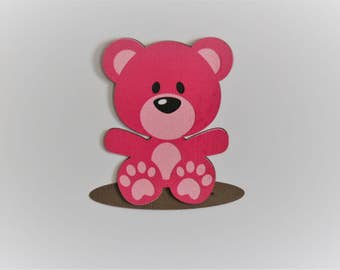Pink Teddy Bear Die Cut