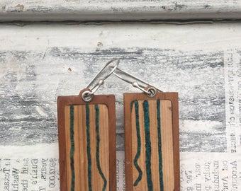 birch chrysoprase earrings