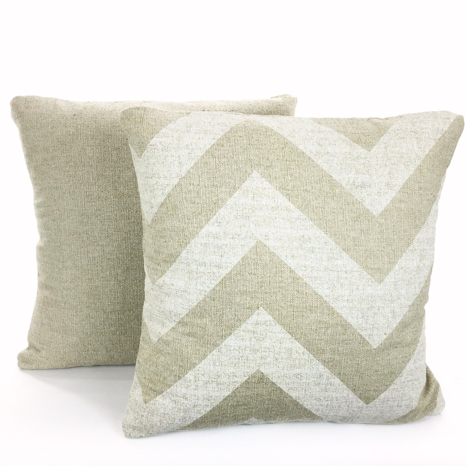 Decorative Burlap Pillow Covers : Burlap-Like Tan Pillow Covers Decorative Throw Pillows