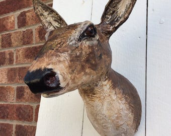 Deer faux taxidemy head