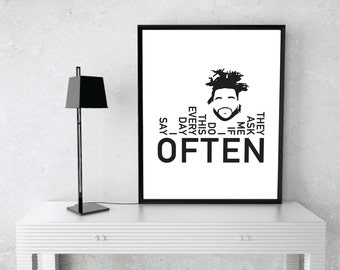 Often - The Weeknd - Wall Art - DIGITAL FILE ONLY