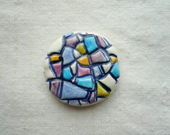 perlina ceramica mosaico - perlina ceramica stile mosaico - perlina ceramica per collana - perlina - ceramica - mosaico - collana - estate