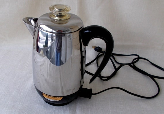 Vintage Farberware 2-8 Cup Coffee Maker Percolator Made in