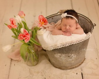 Ivory Bow Headband, Ivory jersey Knit Headband, Newborn Headband, Baby Headband, Bow Headband, Infant Ivory Headband, Cream Bow Headband,