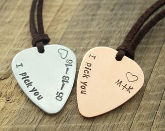 Guitar pick necklace, guitar pick jewelry, mens jewelry, mens gift, mens personalized jewelry hand stamped guitar pick necklace men necklace