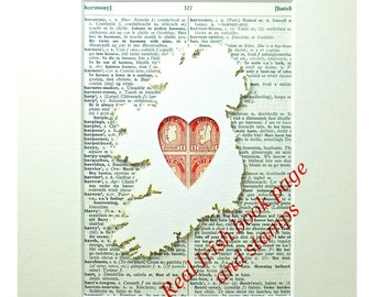 Irish Proclamation Irish Gift For Him Unique Irish Gifts - Irish language map