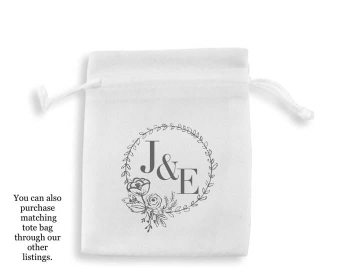 Personalised wedding favour bags, pouches, recovery kits any wording & colour. Favours, baby shower, hen party, baptism, Favour bag