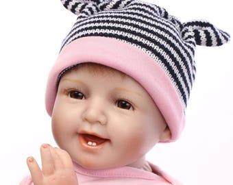 "22"" Handmade Real Looking Newborn Baby Vinyl Silicone Realistic Reborn Doll Girl"